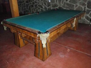 Kling 10 foot pool table from Brunswick Balke Collender