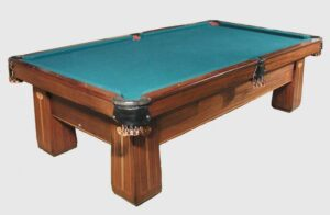 Antique 10' Brunswick-Balke-Collender Regina snooker table for sale, this pic is from our showroom.