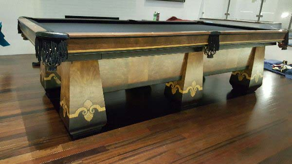 Antique Pool Table Restoration - Pool table resurfacing