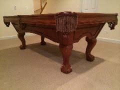 Used Brunswick Greenbriar pool table for sale