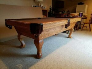 olhausen 7 foot santa ana pool table in oak