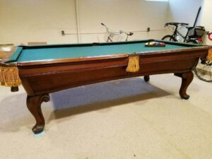 AMF Highlander pool table in Mahogany.