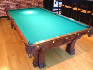 Brunswick-Balke-Collender Pfister pool table