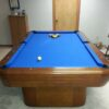 End view of a Brunswick Gibson pool table