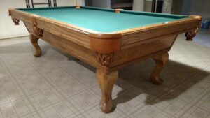 Used 8 foot Olhausen classic pool table for sale.