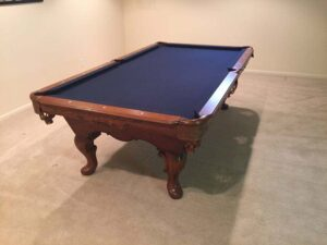 Used Olhausen Queen Anne pool table for sale
