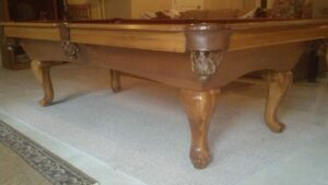 Used Proline pool table in Maple finish