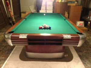 Brunswick Balke Collender Anniversary pool table, 9 foot model.