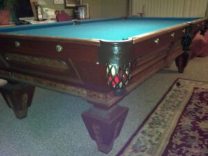 Charles Shulenburg 9' circa pool table.