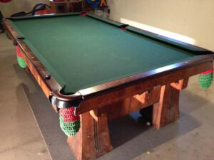 Brunswick Balke Collender Kling pool table in circassian walnut