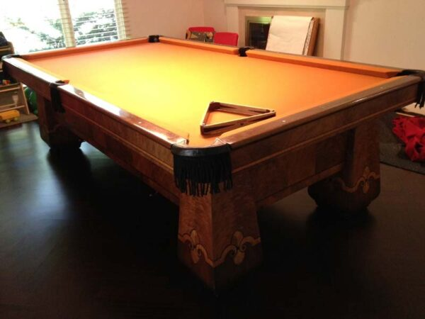 The Paragon pool table from Brunswick-Balke-Collender for sale in a rare 4 leg version