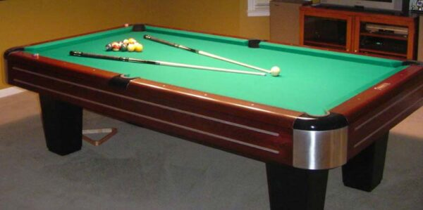 Antique 9' Brunswick-Balke-Collender Sport King pool table for sale.