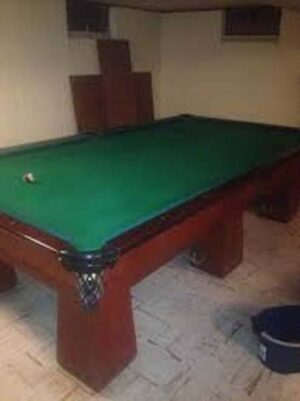 Vestal Steel 1920's era pool table from Brunswick Balke Collender