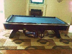 9 foot waterfall style pool table from Murray Billiards.