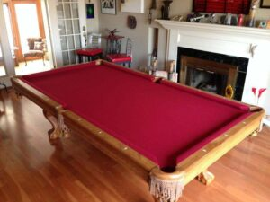 Brunswick Brookstone 2 8 foot pool table for sale.