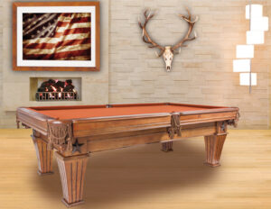 Brittany pool table from Presidential Billiards.