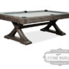 Angle view of the Kariba pool table.